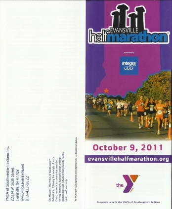 YMCA half marathon mailer